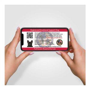 digital id card emotional support dog