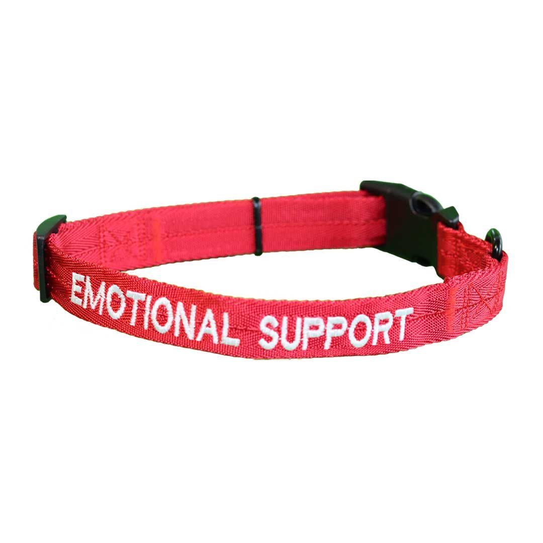 emotional support dog collar red dogline