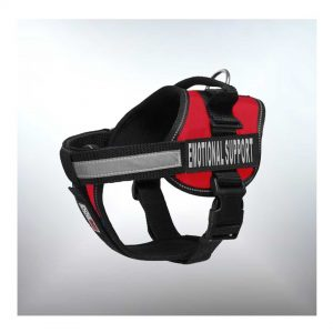 emotional support dog harness red dogline
