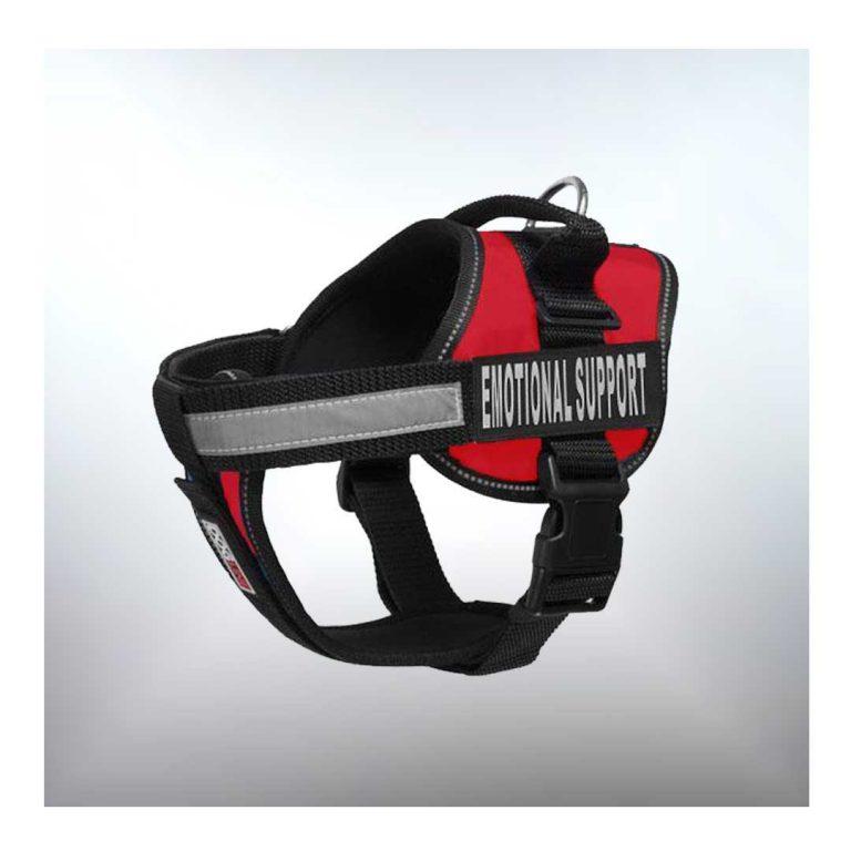 emotional support dog harness red dogline