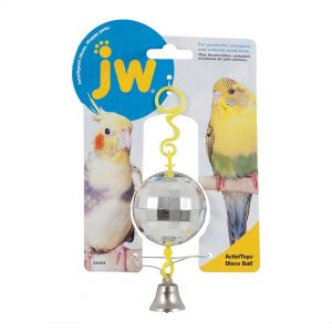 jw pet activitoy birdie disco ball toy