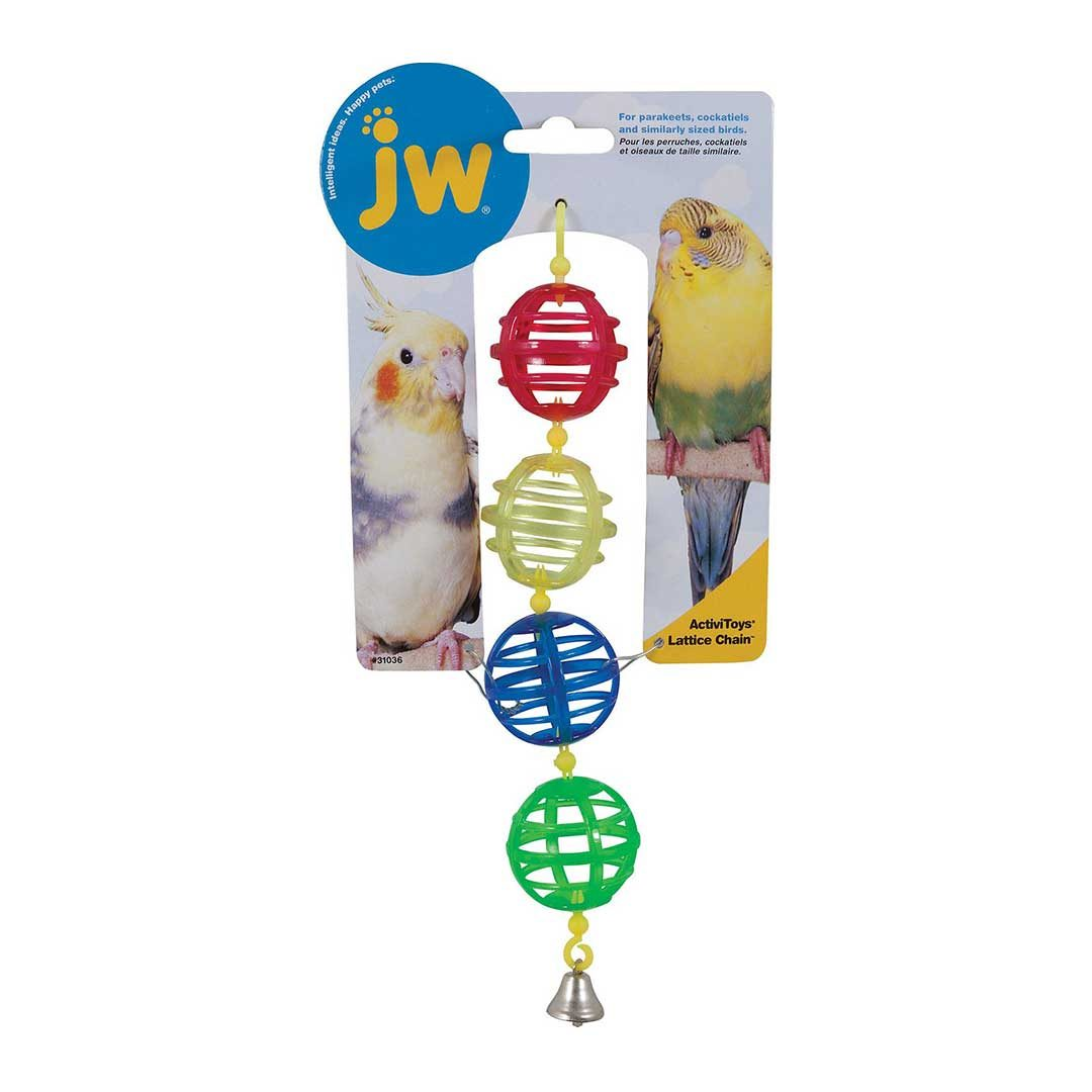 jw pet activitoy birdie lattice chain toy