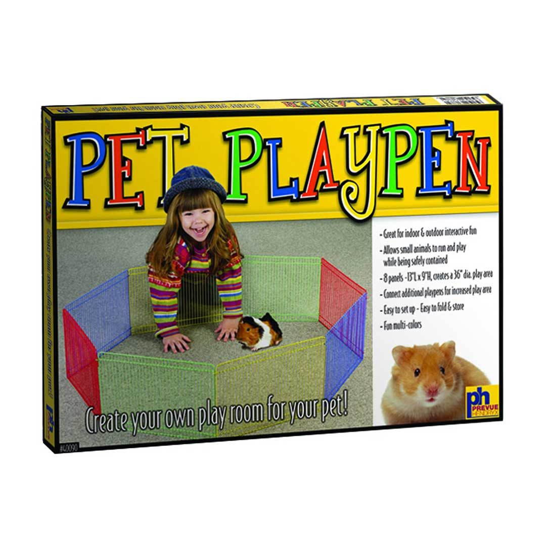prevue pet products multi-color animal playpen small 36-in
