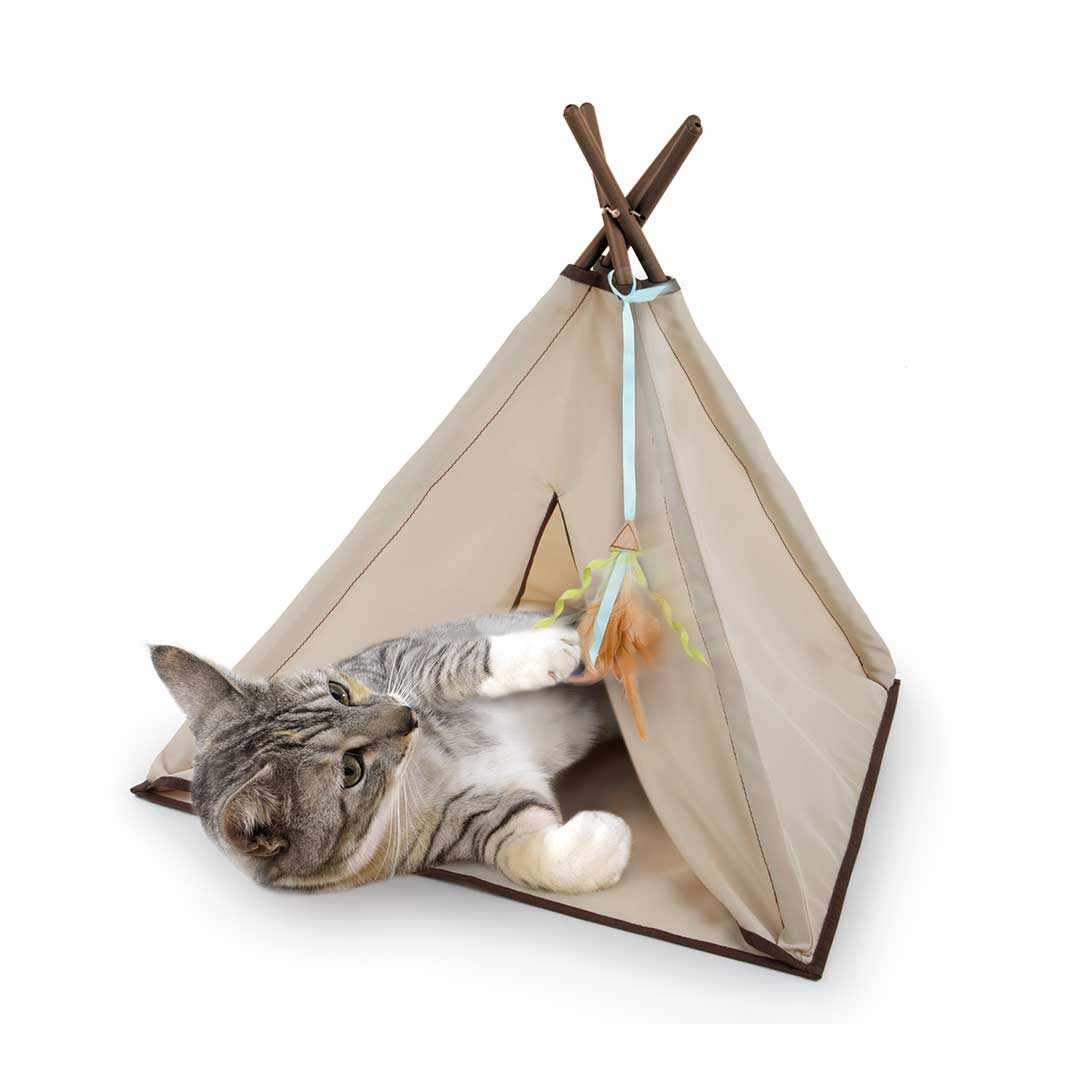 smartykat kitty camp teepee cat toy